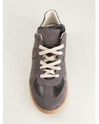 Maison Martin Margiela Black Paneled Sneakers - Lyst