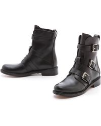 Rag & Bone Hudson Buckle Boots  Black - Lyst