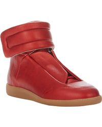 Maison Martin Margiela Metallic Ankle-strap Sneakers - Lyst