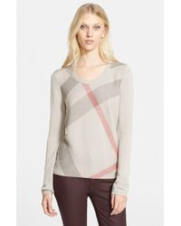 Burberry Brit Check-Pattern Sweater - Lyst