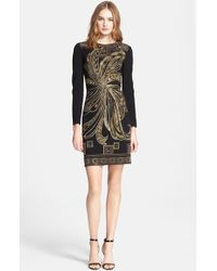 Emilio Pucci Beaded Punto Milano Dress - Lyst
