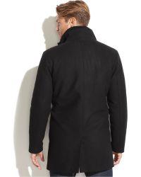 Vince Camuto - Wool-Blend Removable-Bib Car Coat - Lyst