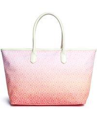 Mischa - 'shopper Tote' In Gradient Seigaiha Wave Hexagon Print - Lyst