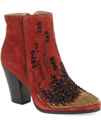 Donald J Pliner Red Swift Boots - Lyst