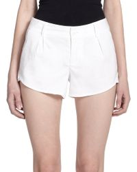Alice + Olivia Butterfly Shorts white - Lyst