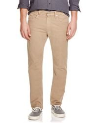 AG Adriano Goldschmied | Matchbox Slim Straight Fit In Tan | Lyst