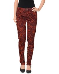 Basicon Casual Pants red - Lyst