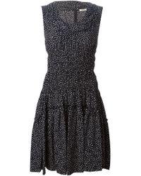 Nina Ricci Printed Cowl Neck Dress - Lyst
