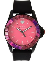 Juicy Couture 1901185 Black & Pink Watch - Lyst