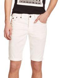 True Religion Ricky Denim Shorts white - Lyst