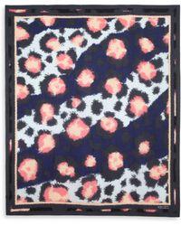 Kenzo Leopard-Print Scarf - Lyst