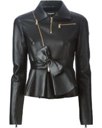 DSquared² Peplum Calf-Leather Jacket - Lyst