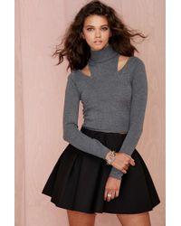 Nasty Gal Cara Cutout Turtleneck Sweater - Lyst