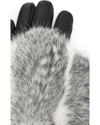 Imoni - Short Lambs Leather Gloves With Fur Overlay - Lyst