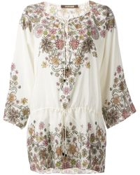 Roberto Cavalli Embellished Flower Tunic - Lyst