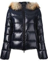 Duvetica Fox Fur Trim Padded Jacket - Lyst