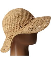 Karen Kane - Raffia Straw Packable Floppy - Lyst