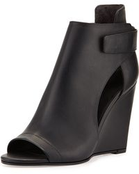Vince Katia Leather Wedge Bootie - Lyst