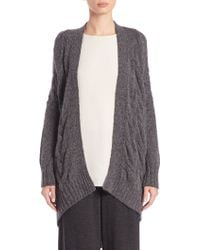 Eileen Fisher | Cabled Oval Cardigan | Lyst