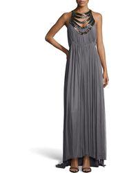 Catherine Deane Mirage Mesh Silk Evening Gown - Lyst