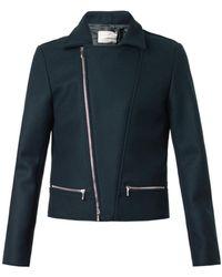 Richard Nicoll - Melton-Wool Biker Jacket - Lyst