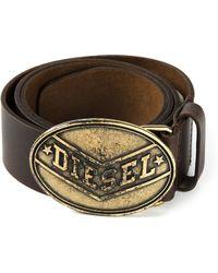 Diesel Oval Buckle Belt - Lyst