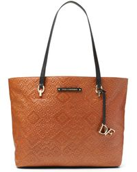 Diane von Furstenberg Ready To Go Weaved Leather Tote - Lyst