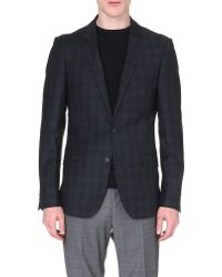 Sandro Checked Flannel Suit Jacket - Lyst