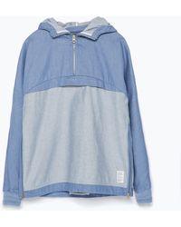 Zara Denim Combination Jacket - Lyst