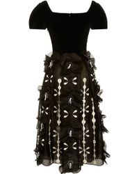 Holly Fulton - Brenda Embroidered Organza Dress - Lyst