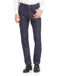 Z Zegna - Straight-fit Stretch Cotton Jeans - Lyst