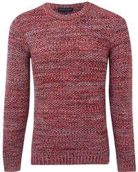 Jonathan Saunders Red Herringbone Merino Wool Jumper - Lyst