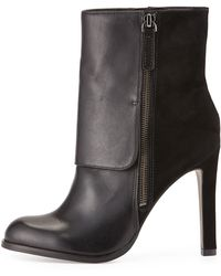 Pour La Victoire Tonia Suede and Smooth Leather Bootie - Lyst