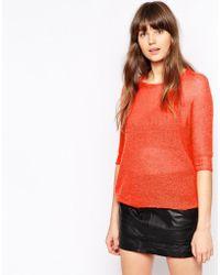 Pop Cph - Mohair Crocheted Mid-sleeve Sweater - Lyst