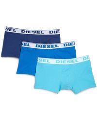 Diesel Stretch Cotton Boxer Briefs, 3-Pack blue - Lyst