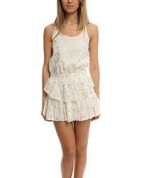 Loveshackfancy   Ruffle Racer Mini Dress   Lyst