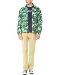Battenwear Flower Print Team Jacket - Green