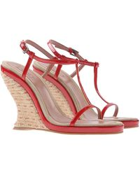 Alaïa Red Sandals - Lyst