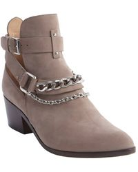 Belle By Sigerson Morrison Dark Rose Suede Chain Detail Ankle'Demetra' Boots - Lyst