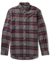 Gitman Brothers Vintage Button-down Collar Checked Cotton-flannel Shirt - Lyst