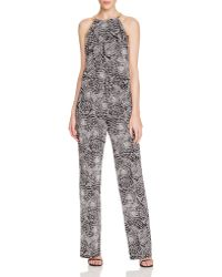 Laundry by Shelli Segal - Sleeveless Chain-embellished Printed Jumpsuit - Lyst