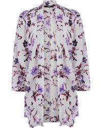 Oasis Beautiful Floral Kimono - Lyst
