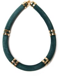 Lizzie Fortunato Green Double Take Necklace - Lyst