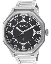 Nixon Mens Falcon Silver-tone Steel Black Dial - Lyst