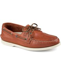 Sperry Top-Sider A/O 2-Eye Burnished Boat Shoes - Lyst
