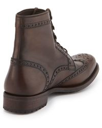 Neiman Marcus - Wing-tip Leather Boot - Lyst