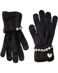 Betsey Johnson On The Rocks I Touch Gloves - Black