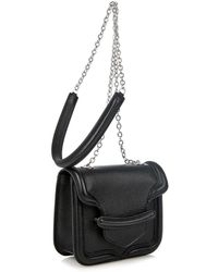 Alexander McQueen Heroine Mini Leather Cross-Body Bag - Lyst
