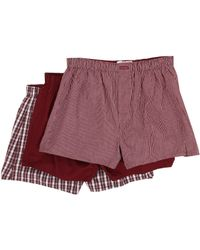 Calvin Klein 3-pack Woven Boxers - Lyst