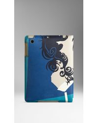 Burberry The Writer Print Leather Ipad Mini Case - Lyst